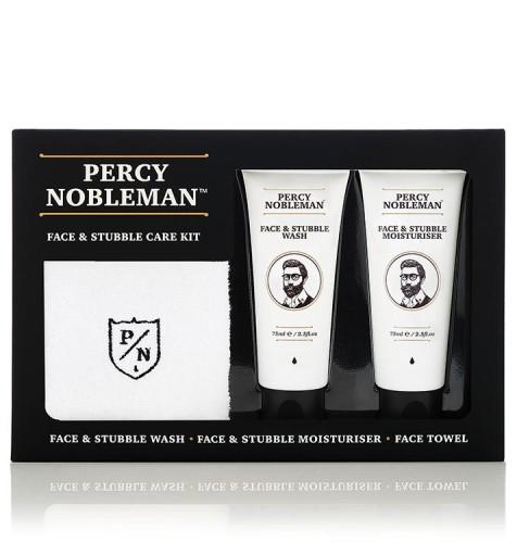 Percy Nobleman Face & Stubble Care Kit Veido ir barzdos priežiūros rinkinys, 1 vnt